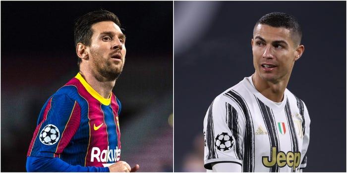Lionel Messi and Cristiano Ronaldo for football